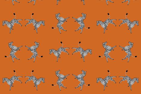 zebra_hi5_orange fabric by danika_herrick on Spoonflower - custom fabric