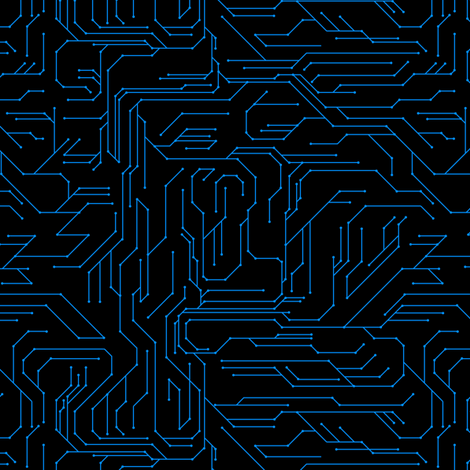 Circuit Board fabric by synaptik on Spoonflower - custom fabric