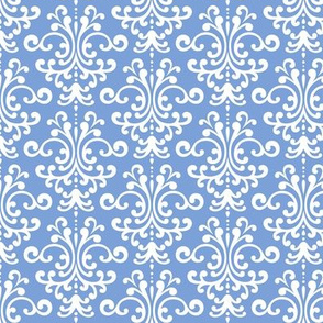 damask cornflower blue
