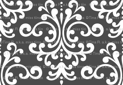 damask dark grey