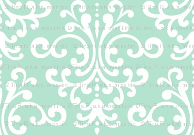 damask mint green