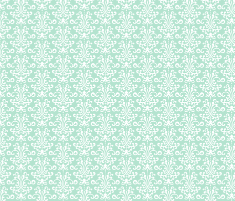 damask mint green fabric by misstiina on Spoonflower - custom fabric