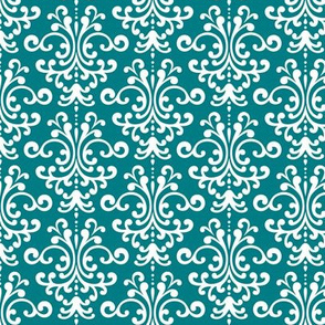 damask dark teal