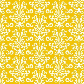 damask mustard yellow