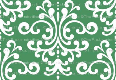 damask kelly green