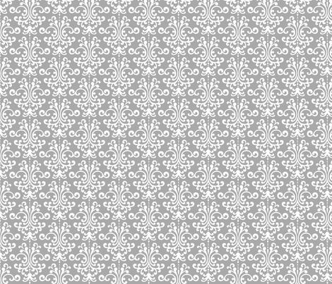 damask grey fabric by misstiina on Spoonflower - custom fabric