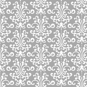 Damask Grey Wallpaper