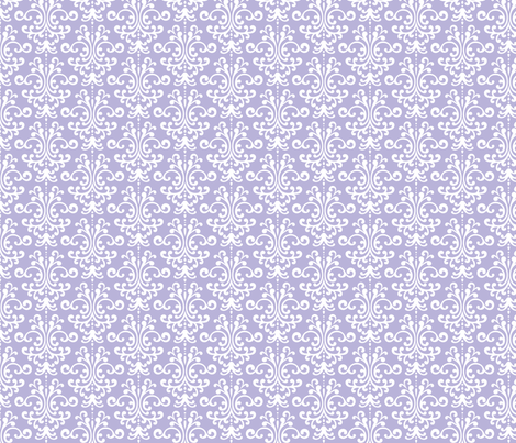 Damask Light Purple Fabric By Misstiina On Spoonflower