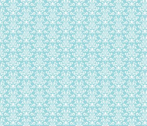 damask light teal fabric by misstiina on Spoonflower - custom fabric
