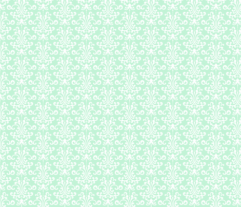 damask ice mint green fabric by misstiina on Spoonflower - custom fabric
