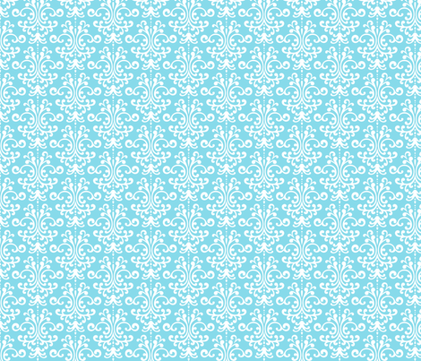 damask sky blue fabric by misstiina on Spoonflower - custom fabric