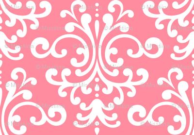 damask pretty pink