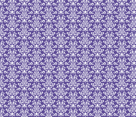 damask purple fabric by misstiina on Spoonflower - custom fabric