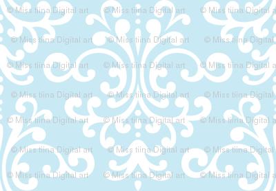 damask ice blue