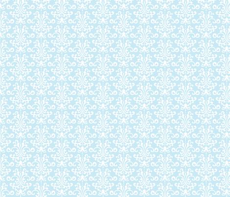 damask ice blue fabric by misstiina on Spoonflower - custom fabric