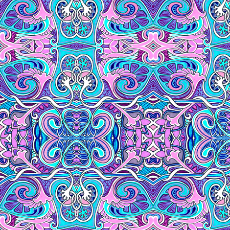 What Shall We Name the Baby (pink and blue romantic abstract) fabric by edsel2084 on Spoonflower - custom fabric