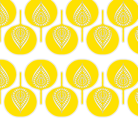 tree_hearts_bright_yellow_white_and_dk_grey fabric by holli_zollinger on Spoonflower - custom fabric