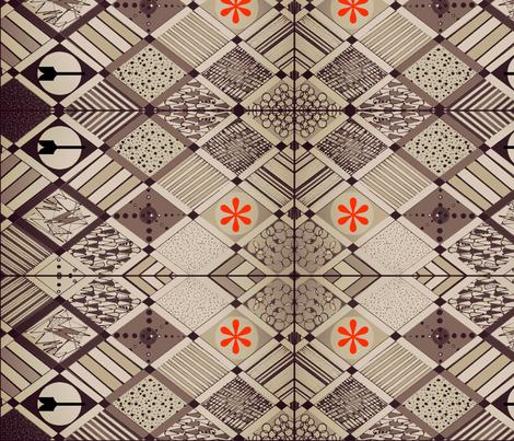 Mod-A-Go-Go fabric by bettieblue_designs on Spoonflower - custom fabric