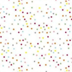 Polka Dot Circles. Multi-coloured.