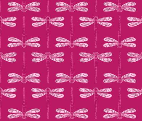 dragonfly directional in vivacious fabric by chantae on Spoonflower - custom fabric