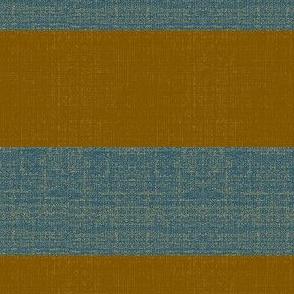 Gold Digger - denim and antique gold stripe