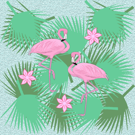 flamingo fabric by krs_expressions on Spoonflower - custom fabric