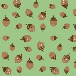 Acorns on Green