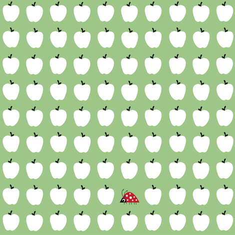 Little ladybirds and lots of apples. fabric by halfpinthome on Spoonflower - custom fabric