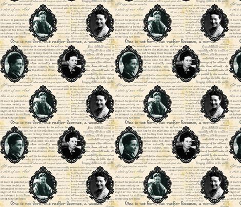 Cameo de Beauvoir fabric by pirophobia on Spoonflower - custom fabric