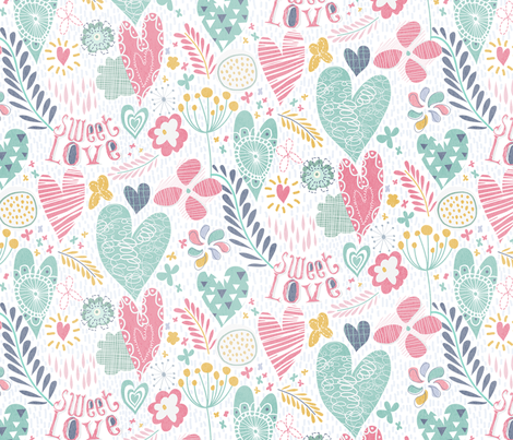Sweet Love fabric by demigoutte on Spoonflower - custom fabric