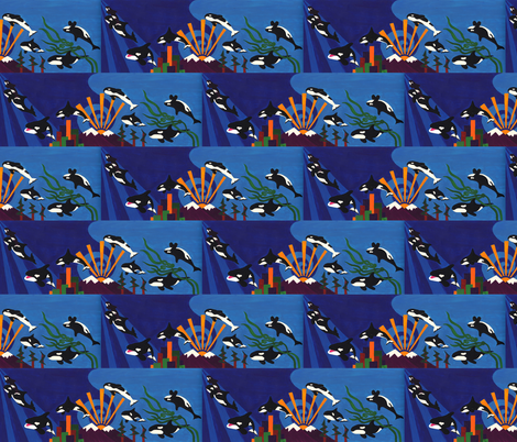 Orcas Ascending - small fabric by thecameronquinn on Spoonflower - custom fabric