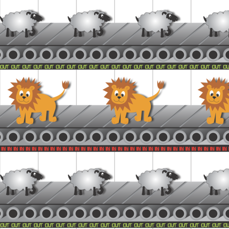 In like a lion. Out like a lamb. fabric by illustrative_images on Spoonflower - custom fabric