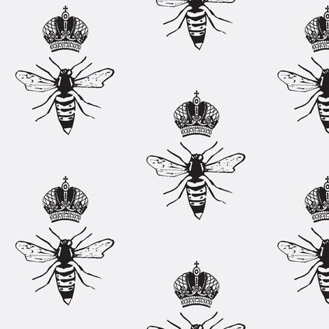 BW Queen Bee fabric by efolsen on Spoonflower - custom fabric