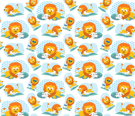 lionlamb fabric by scifiwritir on Spoonflower - custom fabric
