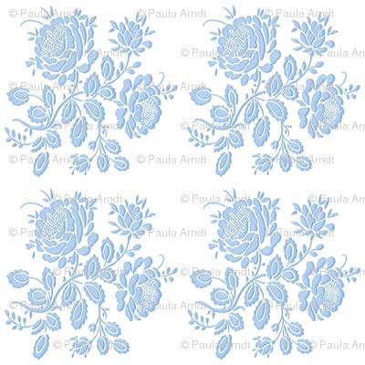 Summerhouse Rose in Blueberry Blue