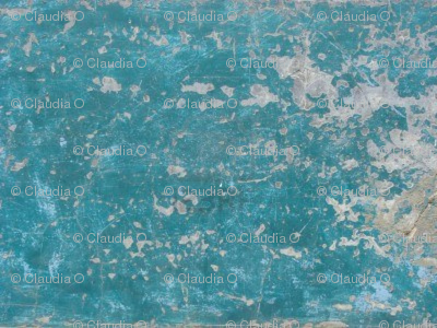 Worn Blue Painted Wall