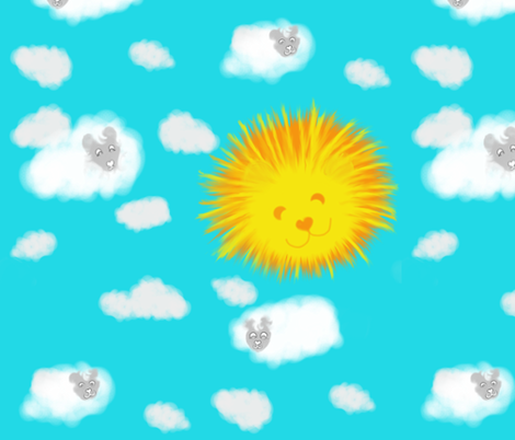 Ewe Know I'm Not Lion About This Gorgeous Weather ! fabric by peacoquettedesigns on Spoonflower - custom fabric