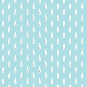 happy raindrops on Blue