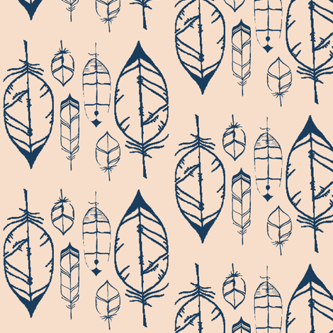 feathers-ch fabric by bymindy on Spoonflower - custom fabric
