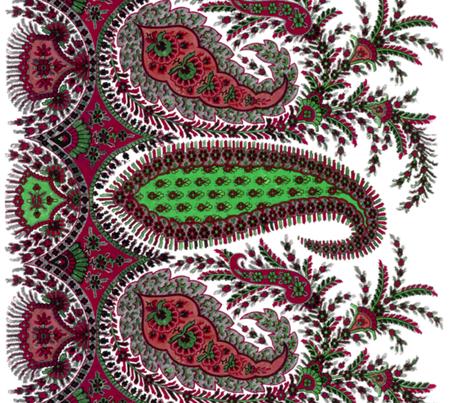 The Paisley Sublime ~ Christmas Special Border Print fabric by peacoquettedesigns on Spoonflower - custom fabric