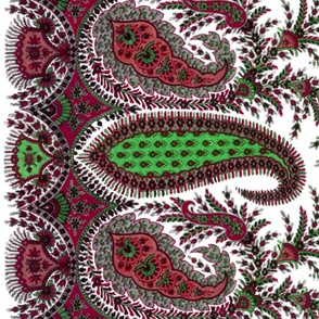 The Paisley Sublime ~ Christmas Special Border Print