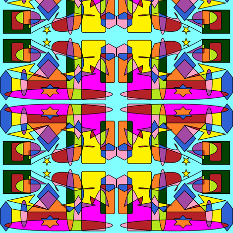 Neon Abstract fabric by ravynscache on Spoonflower - custom fabric