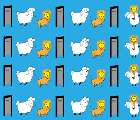 Mischievous March fabric by egprestonhouse on Spoonflower - custom fabric