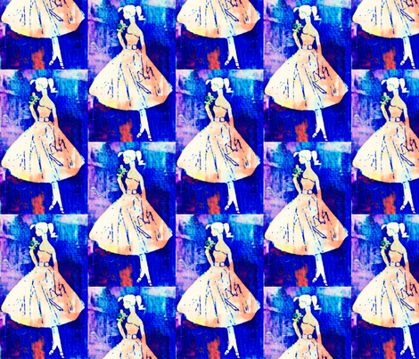 Pretty Teenager Denim fabric by bettieblue_designs on Spoonflower - custom fabric
