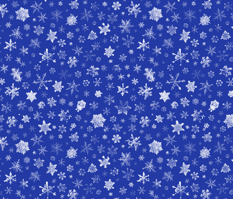 photographic snowflakes on morning blue fabric by weavingmajor on Spoonflower - custom fabric