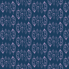 feathers navy & violet