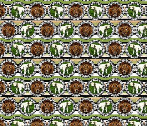 L for lion, L for lamb fabric by pirophobia on Spoonflower - custom fabric