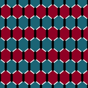 Red and Teal Hex