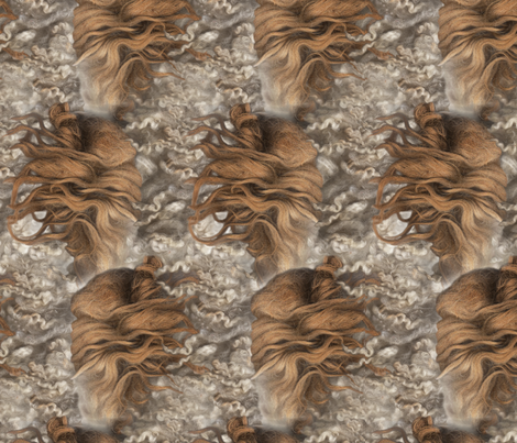 lionslambs fabric by kikivanpersie on Spoonflower - custom fabric