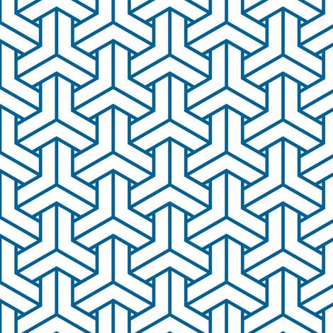 bishamon in mykonas blue fabric by chantae on Spoonflower - custom fabric